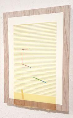 Nathan Suniula, 'Yellow blue hue', acrylic on ply wood panel, 2016