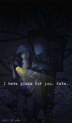 Slenderman and Kate in Slender the arrival