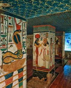 """Tomb of Queen Nefertari, the first and great royal wife of Ramses ll and the woman he loved most, in this tomb we can see the care and love with which he prepared for her the """"house of eternity"""". Ancient Egypt Art, Ancient Ruins, Ancient History, European History, Ancient Artifacts, Ancient Greece, American History, Egyptian Pharaohs, Egyptian Art"""