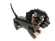 Everybody loves a Lego weiner Legos, Lego Dog, Lego Activities, Lego Craft, Lego For Kids, Lego Projects, School Projects, Sewing Projects, Cool Lego Creations