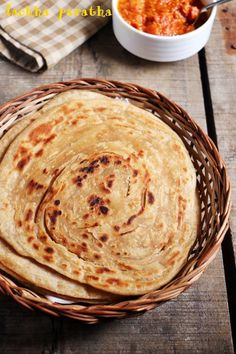 Lachha paratha recipe or lacha paratha recipe with step by step photos. Sharing a very popular and tasty Punjabi recipe- lachedar paratha. Lachha paratha recipe is quite different from other stuffe… Best Vegetable Recipes, Vegetarian Recipes, Cooking Recipes, Pizza Recipes, Easy Recipes, Croissants, Beignets, Burmese Food, Burmese Recipes
