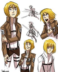 armin   attack on titan [by wallabri on tumblr] (Already pinned this... Just not here)