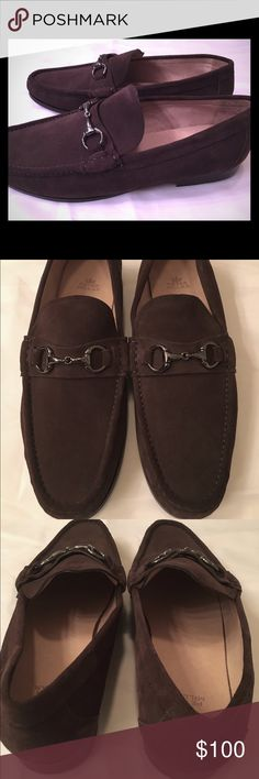 Peter Millar Brown Suede Penny Loafers - Sz 11.5 Only worn once for a few hours!  Excellent condition.  Peter Millar chocolate brown suede penny loafers. Size 11.5. Peter Millar Shoes Loafers & Slip-Ons