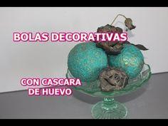 COMO HACER BOLAS DECORATIVAS CON CASCARA DE HUEVO - YouTube