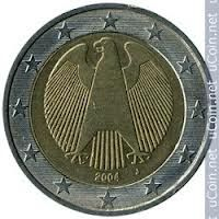 2 Euro Coin 2004 Germany J