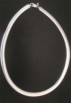 """950 SILVER 8MM FLAT OMEGA 20"""" NECKLACE CHAIN 31g MILOR ITALY REVERSIBLE #milor #Statement"""