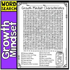 Growth Mindset Activity: Word Search