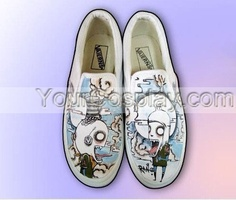New Hand Drawing Custom Universal Canvas Shoes Custom-042, New Arrival Hand Drawing Shoes, Cosplay Hand Drawing Shoes
