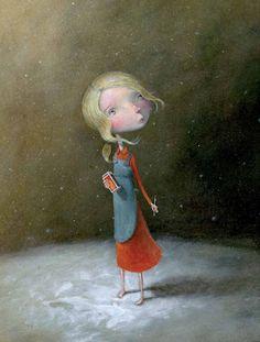 çizgili masallar: Fabrice Backès, La petite fille aux allumettes ( The Little Match Girl )