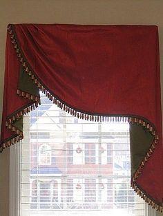 Diy bathroom curtains window valance ideas 34 ideas for 2019 Sliding Door Curtains, Bathroom Window Curtains, Bathroom Windows, Sliding Doors, Curtains Living, Curtains With Blinds, Valance Curtains, Valance Ideas, Drapery