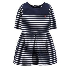 Carter's Striped Pleated Dress - Girls 4-6x.  * It's so pretty. If only there was an adult version of this dress.