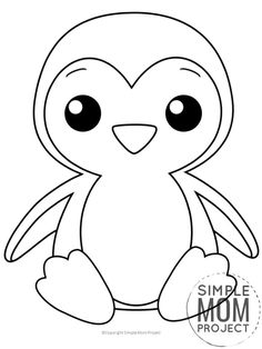 Free Printable Penguin Coloring Page Penguin Coloring Pages Cute Coloring Pages Free Kids Coloring Pages