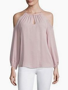 Joie Abdel Silk Cold-shoulder Blouse In Light Jasmine Preppy Outfits, Fashion Outfits, Womens Fashion, Luxury Fashion, Sewing Blouses, Cold Shoulder Blouse, Shoulder Tops, Make Your Own Clothes, Online Dress Shopping