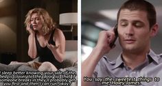 one tree hill   haha I LOVE this couple right here!!