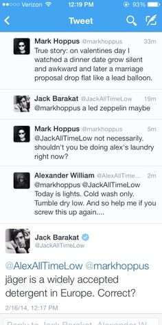 Mark Hoppus, Jack Barakat and Alex Gaskarth - they have the funniest converstaions
