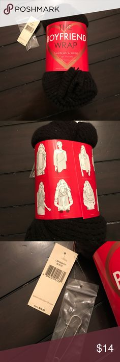 NWT The boyfriend wrap NWT Black boyfriend wrap. Can be worn multiple ways! Great gift idea!! Accessories Scarves & Wraps