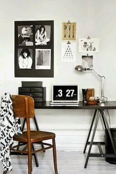 10 escritorios en blanco y negro | Decorar tu casa es facilisimo.com