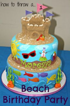 1st birthday beach theme cake - Google Search