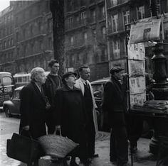 Paris (1947) by Dorothy Bohm  Dorothy Bohm was born in 1924 in Königsberg and was sent by her parents to England in 1939. She trained as a photographer in wartime Manchester, eventually settling in London