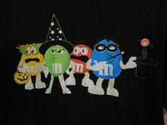M&M's Halloween T Shirt Unisex Size X Large Black Costume Men Women #Unknown #GraphicTee