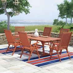 Sol 72 Outdoor™ Rockport 5 Piece Dining Set with Cushions & Reviews | Wayfair Wicker Dining Set, Outdoor Dining Set, Dining Arm Chair, Patio Dining, Indoor Outdoor, Outdoor Furniture Sets, Outdoor Decor, 3 Piece Bistro Set, 3 Piece Dining Set