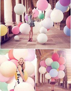 Trend Details zu Deko Farben Latex Luftballons Hochzeit Raumdeko Riesenballon Geburtstag