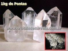 01 kg Cristais Lapidado Gerador Sextavado Pedra COMUM Transparencia Mineral de Garimpo