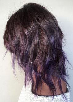 dusted violet balayage hair color