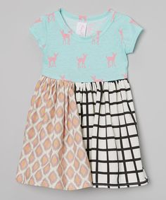 Look at this Pretty Me Pink & Aqua Fawnette Dress - Infant, Toddler & Girls on #zulily today!