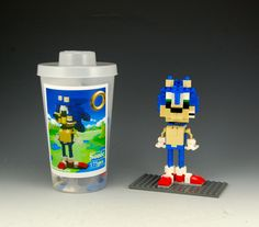 Lego Sonic How-To-Build Kit with Step by Step Tutorial by BrickBum on Etsy Build A Better World, Lego Projects, Worlds Of Fun, Cartoon Characters, Nintendo, Kit, Awesome Things, Etsy