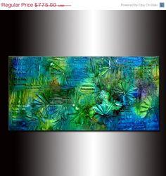 Texture painting Original Abstract Modern Art by newwaveartgallery, $465.00
