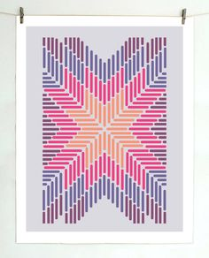 Bedroom print for girls room  Image of Stars In Stripes Lilac