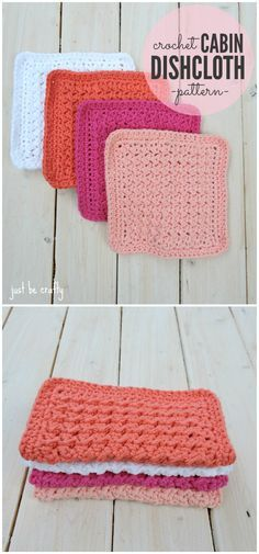 I have rounded up some of the best and interesting free #Crochet #Dishcloth #patterns for your home.Crochet Cabin Dishcloth Pattern