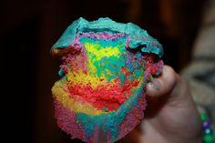 splatter paint cupcakes