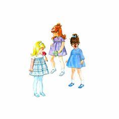 1970s Toddler Girls Smocked Dress McCalls 2691 Vintage Sewing Pattern