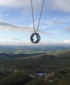 Irish necklace, a delicate irish map coin necklace Coin Necklace, Statement Jewelry, Bridal Accessories, Costume Jewelry, Celtic, Irish, Silver Jewelry, Delicate, Jewelry Design
