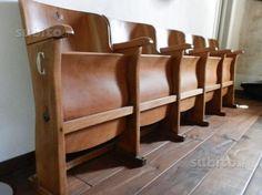 Sedie ws ~ Antique vintage 1920s art deco cinema theatre fold up seats cast