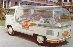"""VW Micro Bus. Bubble top. Schwabisch Hall. BBC Boracay says: """" Display in Germany - installment house and lot displayed in VW Van...."""""""