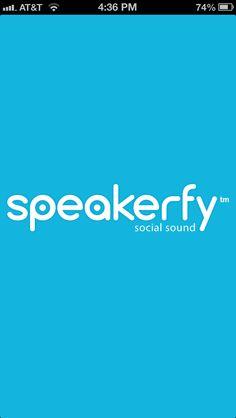 Speakerfy splash screen. #speakerfy