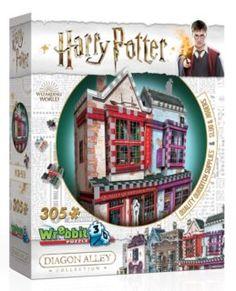 WREBBIT 3D puzzle Harry Potter: Prvotřídní potřeby pro famfrpál a Slug & Jiggers Apothecary 305 dílků   Puzzle-puzzle.cz