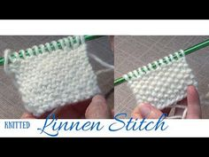 Knitted Linen Stitch - YouTube