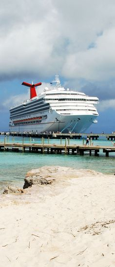 Carnival Cruise ship docked at the pier of Grand Turk island