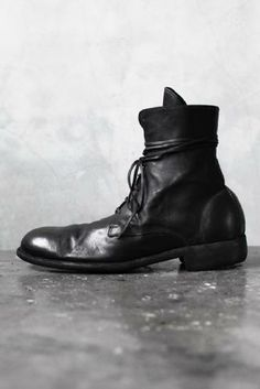 Visions of the Future: ANCHORET GUIDI - SS13 995 HORSE FULL GRAIN LEATHER LACE UP BOOT