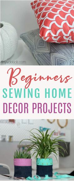 If  you are just starting out as a sewist, you might want to show off your skills  with these Beginner Sewing Home Decor Projects. It's a fun way to freshen up  your living space and best of all, it's with something adorable you made  yourself. . #sewing #sewingideas  #sewingprojects #easysewingideas #sewingprojectsforbeginners  #sewingforbeginners #sewingprojectsforteens Teen Sewing Projects, Sewing Machine Projects, Christmas Sewing Projects, Sewing Projects For Beginners, Sewing For Kids, Craft Projects, Sewing Tips, Sewing Hacks, Sewing Tutorials