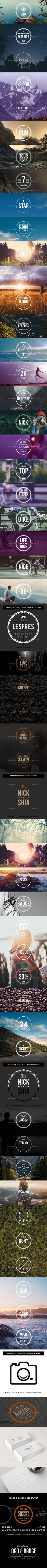 Logo And Badge Generator #design Download: http://graphicriver.net/item/logo-and-badge-generator-volume-1/12669126?ref=ksioks