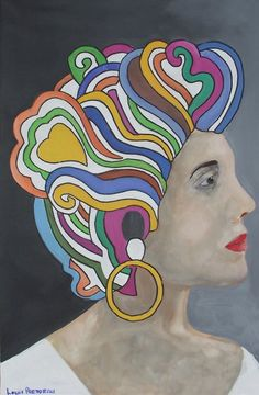 Buy Lady with color Perm, Oil painting by Louis Pretorius on Artfinder. Discover thousands of other original paintings, prints, sculptures and photography from independent artists. Air Dry Hair, Types Of Curls, Permed Hairstyles, Natural Texture, Face Art, Textured Hair, Oil Painting On Canvas, Lovers Art, Buy Art