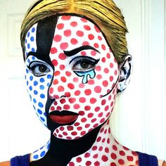 1000 images about pop art schminken on pinterest pop art comic book makeup and pop art makeup. Black Bedroom Furniture Sets. Home Design Ideas