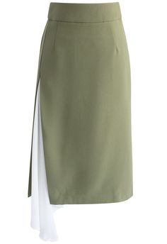 All kinds of Sassy Midi Skirt in Olive - New Arrivals - Retro, Indie and Unique Fashion