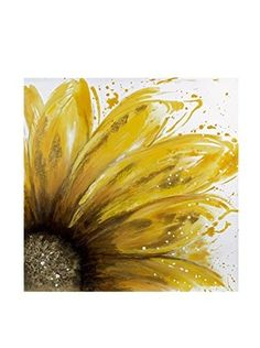 Yellow Daisy Oil On Canvas