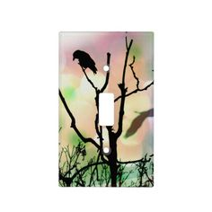 The Lonely Crow Light Switch Cover